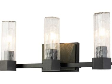Lucas McKearn Navarre Black / Grey 3-light Glass Vanity Light LCKBB915953