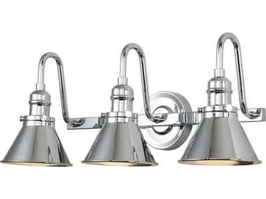 Lucas McKearn Provence Polished Chrome 3-light Industrial Vanity Light LCKBB90684PC3