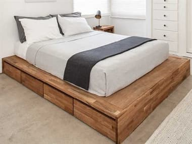 Mash Studios Laxseries Natural Linseed Oil Queen Platform Bed MSHLAX91729