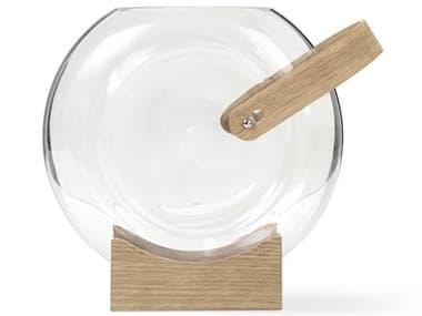 Mater Clear / Oak Handle Vase MTR90101