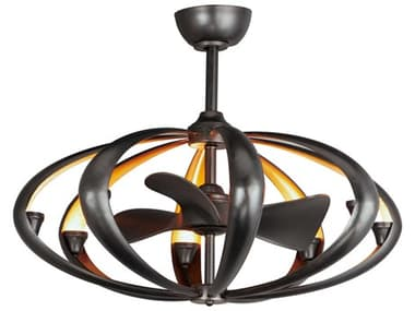 Maxim Lighting Ambience Bronze / Gold 8-Light 33'' Wide WiFi-Enabled LED Indoor Ceiling Fan MX61009BZGLD