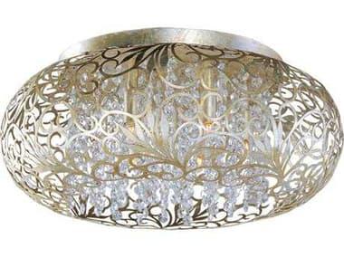 Maxim Lighting Arabesque Golden Silver Seven-Light 18'' Wide Flush Mount Light MX24150BCGS