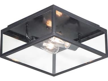 Maxim Lighting Catalina Dark Bronze 2-light Glass Outdoor Ceiling Light MX30098CLDBZ