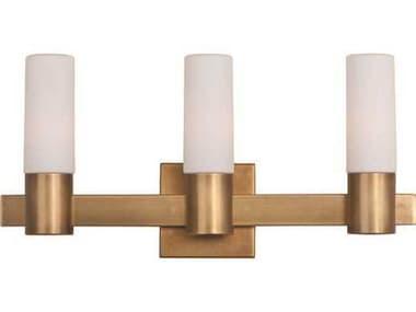Maxim Lighting Contessa Natural Aged Brass Three-Light Vanity Light MX22413SWNAB