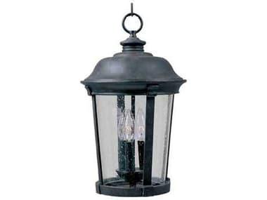 Maxim Lighting Dover DC Bronze & Seedy Glass Three-Light 10'' Wide Incandescent Outdoor Hanging Light MX3028CDBZ