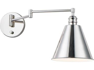 Maxim Lighting Library Polished Nickel One-Light Swing Arm Light MX12220PN
