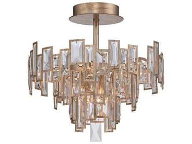 Metropolitan Lighting Bel Mondo Luxor Gold Five-Lights 18.5'' Wide Semi-Flush Mount Light METN6672274