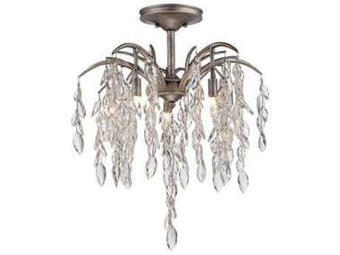 Metropolitan Lighting Bella Flora Silver Mist Five-Lights 20.5'' Wide Semi-Flush Mount Light METN6865278