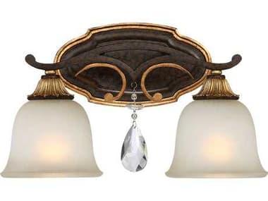 Metropolitan Lighting Chateau Nobles Raven Bronze with Sunburst Gold Leaf Highlights Two-Light Vanity Light METN1462652