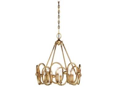 Metropolitan Lighting Clairpointe Pandora Gold Leaf Eight-Light 21'' Wide Mini Chandelier METN6886293