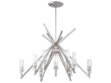 Metropolitan Lighting Fusano Polished Nickel 12-Lights 39'' Wide Grand Chandelier METN6831613