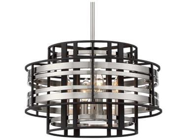 Metropolitan Lighting Preston Brushed Nickel / Sand Coal 4-light 16'' Wide Mini Chandelier METN7984420