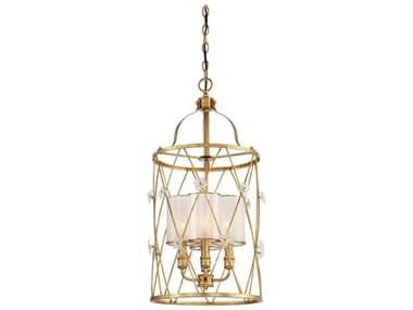 Metropolitan Lighting Victoria Park Elara Gold Three-Light 15'' Wide Mini Chandelier METN6562596