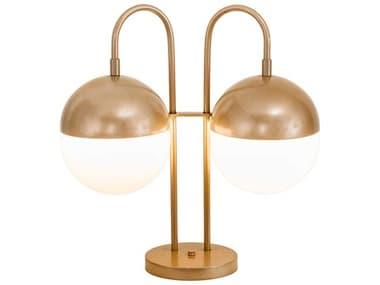 Meyda Bola Champagne Metallic 2-light Glass Desk Lamp MY194888