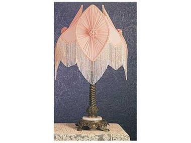 Meyda Lighting Fabric & Fringe Pink 15'' Accent Lamp MY19226