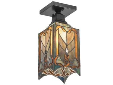 Meyda 5'' Wide Glass Tiffany Flush Mount Light MY192693