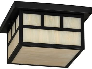 Meyda Hyde Park Craftsman Brown 2-light Glass Outdoor Ceiling Light MY232171