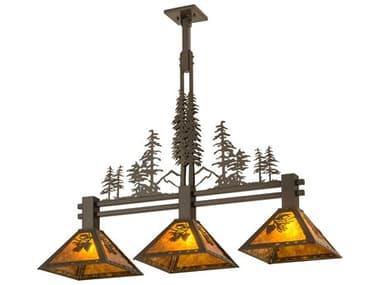 Meyda 45'' Wide Glass Rustic Lodge Island Light MY27073