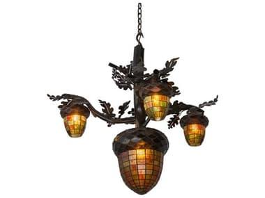 Meyda 48'' Wide Glass Rustic Lodge Tiffany MY180444