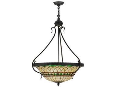 Meyda Tiffany Roman Inverted Four-Light Pendant MY145692