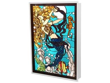 Meyda Mermaid Of The Sea Blue / White Glass LED Tiffany Backlit Window MY212842