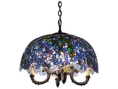 Meyda 23'' Wide Glass Tiffany Mini Chandelier MY184083