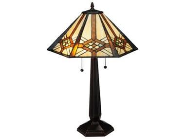 Meyda Tiffany Crosshairs Mission Multi-Color Buffet Lamp MY119659