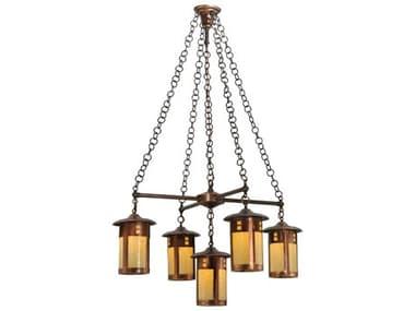 Meyda Tiffany Fulton Prairie Loft Five-Light 36 Wide Chandelier MY137268