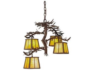 Meyda Tiffany Pine Branch Four-Light 28 Wide Chandelier MY147619