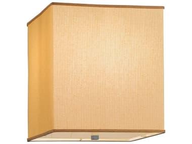 Meyda Tiffany Quadrato Honey Bombay Fabric Dimmable Two-Light Flush Mount Light MY144971