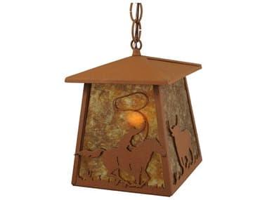 Meyda Tiffany Cowboy & Steer  Mimi-Outdoor Hanging Light MY114537