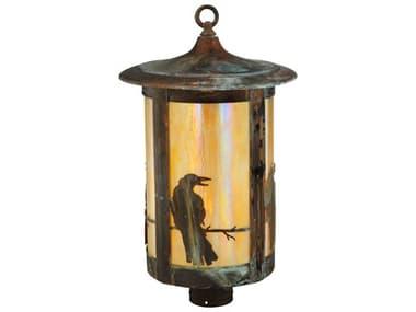 Meyda Tiffany Fulton Crow Copper Post Mount MY139412