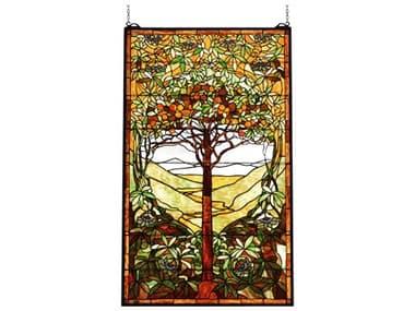 Meyda Tiffany Tree of Life Stained Glass Window MY74065