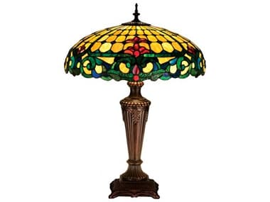 Meyda Tiffany Duffner & Kimberly Colonial Multi-Color Table Lamp MY15707