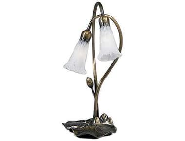 Meyda Tiffany Pond Lily White Accent Table Lamp MY14654