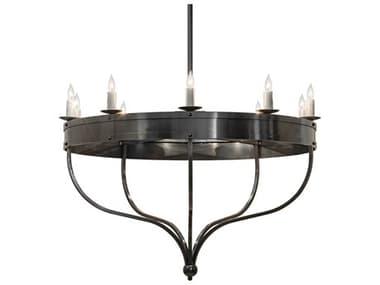 Meyda Parnella Black / White 10-light 54'' Wide Chandelier MY215483