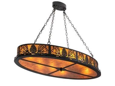 Meyda Pinecone 8-light 48'' Wide Rustic Lodge Island Light MY225845