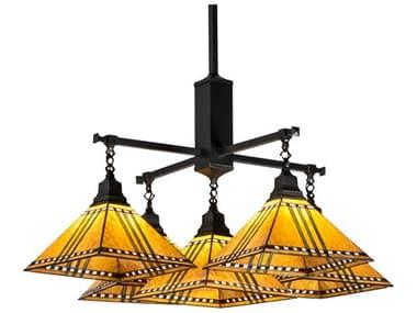 Meyda Prairie Corn Craftsman Brown 5-light Glass Tiffany Outdoor Hanging Light MY231650