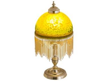 Meyda Roussillon Amber 1-light Glass Table Lamp MY202656