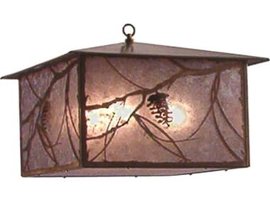 Meyda Tiffany Whispering Pines Four-Light Outdoor Hanging Light MY14116