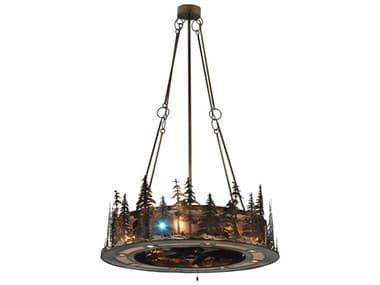 Meyda Tiffany Tall Pines LED Spotlight Four-Light Chandel-Air MY130184