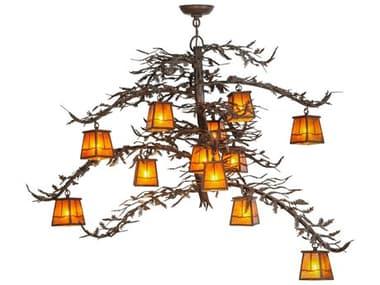 Meyda Tiffany Pine Branch Valley View 12-Light 48 Wide Grand Chandelier MY113655