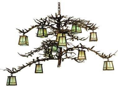 Meyda Tiffany Pine Branch Valley View 12-Light 50 Wide Grand Chandelier MY118366
