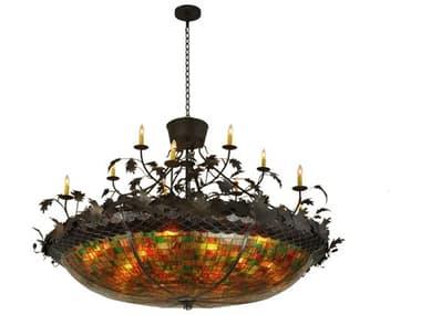 Meyda Tiffany Greenbriar Oak 12 Arm 28-Light 72 Wide Grand Chandelier MY119540