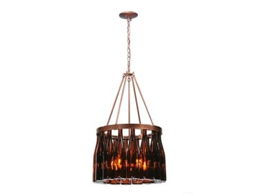 Meyda Tiffany Tuscan Vineyard Estate 16 Wine Bottle Five-Light 19 Wide Mini-Chandelier MY114513