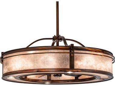 Meyda Sargent Vintage Copper 16-Light 46'' Wide Indoor / Outdoor Ceiling Fan MY227679