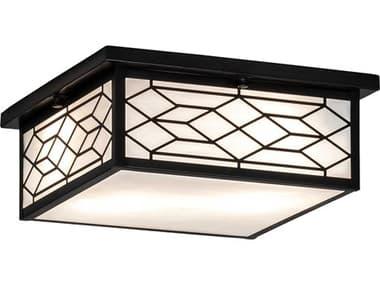 Meyda Seneca Craftsman Brown 2-light Glass Outdoor Ceiling Light MY224238