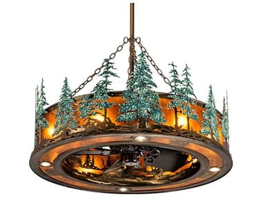 Meyda Tall Pines Antique Copper 45'' Wide 12-Light Chandel-Air MY222081
