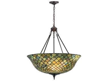 Meyda Tiffany Fishscale Three-Light Inverted Pendant Light MY111082
