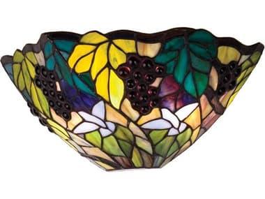 Meyda Tiffany Spiral Grape Two-Light Wall Sconce MY11055